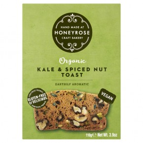 Toast with Kale and Seasoned Nuts BIO (gluten-vegan) 110g
