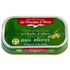Anchovy Fillets Olives & Olive Oil 69g