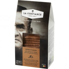Caramelized with pieces of pure cocoa 130g BIO