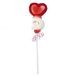 Heart Spiral Marshmallow pop 40g