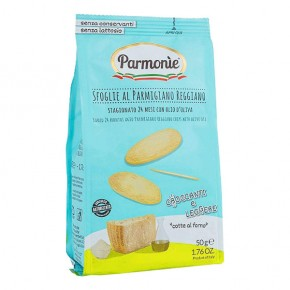 Parmigiano Reggiano chips with extra virgin olive oil 50g sachet