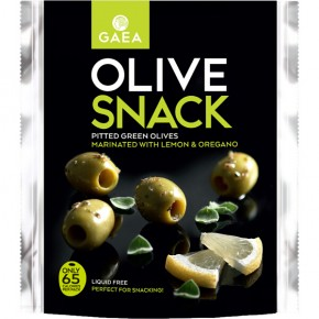 Snackpack Pitted O. Green Orig. & Cit. 65g